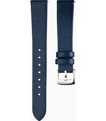 cinturino per orologio 16mm, blu, acciaio inossidabile