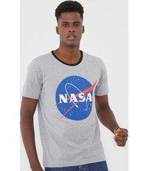 camiseta fiveblu manga curta nasa cinza