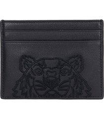 kenzo wallet in black leather