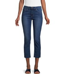 joe's jeans women's mid-rise raw-hem cropped straight jeans - bakerville - size 27 (4)