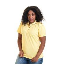 camisa polo feminina plus size piquet 96233