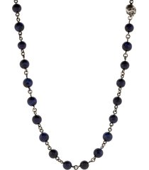 blue tigers eye bead necklace