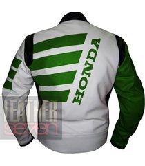 honda 9019 green leather motorcycle motorbike stylish cowhide safety  jacket