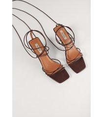 na-kd shoes högklackade remsandaler - brown