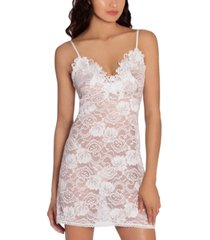 linea donatella embroidered stretch lace chemise nightgown