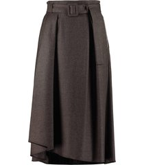 fabiana filippi belted wool skirt
