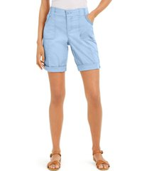style & co petite roll-cuffed shorts, created for macy's