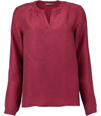 blouse bordeaux rood