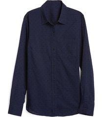 camisa azul oscuro gap