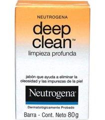 neutrogena deep clean sabonete facial limpeza profunda 80g
