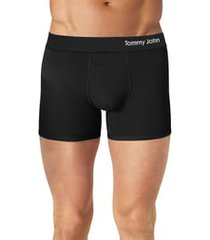 tommy john cool cotton 4-inch boxer briefs, size small in black at nordstrom