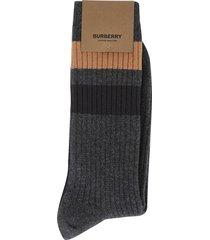 burberry graphic stripe socks