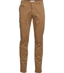 chuck regular chino pant - gots/veg chinos byxor brun knowledge cotton apparel