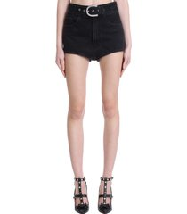 alessandra rich shorts in black denim