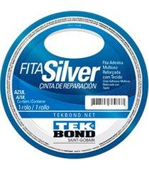 fita silver tape 48mm com 5 metros azul