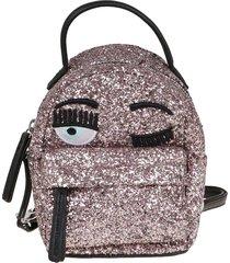 chiara ferragni extra mini flirting glitter backpack