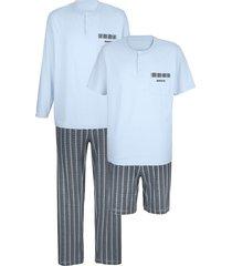 pyjama's babista 2x lichtblauw/grijs