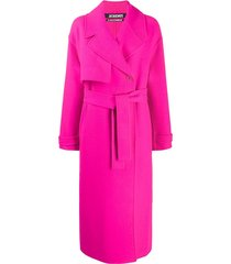 jacquemus sabe belted trench coat - pink