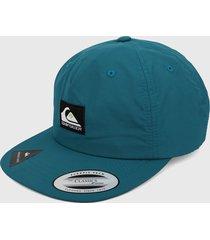 gorra azul aguamarina-negro quiksilver strapback