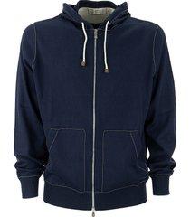 brunello cucinelli cotton sweatshirt with contrast stitching