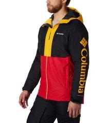 columbia men's timberturner colorblocked hooded ski jacket