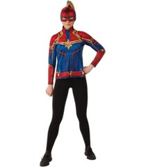 buyseasons women's captain marvel hero suit adult costume top