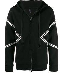 neil barrett varsity slim jacket - black