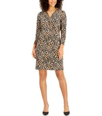 jm collection petite printed zip-detail dress, created for macy's