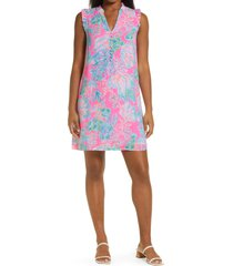 lilly pulitzer(r) cally shift dress, size 10 in prosecco pink seaing things at nordstrom