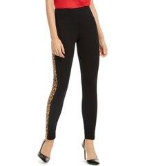 i.n.c. animal-print stripe skinny pants, created for macy's