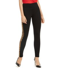 inc animal-print stripe skinny pants, created for macy's