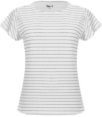 camiseta mujer rayas delgadas color negro, talla s