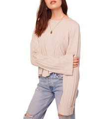 b.o.g. collective westminster asymmetrical hem sweater, size small in ivory at nordstrom