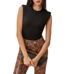 women's reformation citta bodysuit, size x-small - black