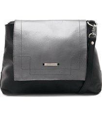 bolso negro-plateado tannino