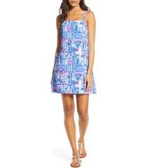 women's lilly pulitzer sahar print romper dress