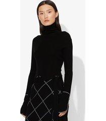 proenza schouler silk cashmere long sleeve knit turtleneck black s