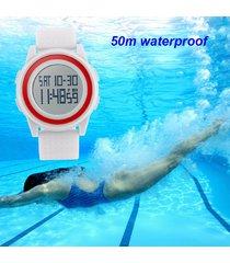 dama digital reloj delgado skmei mujer deportivo sumergible
