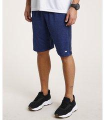 bermuda masculina esportiva ace com faixa lateral e respiro azul