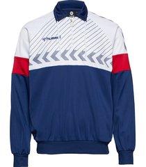 hmlbeck half zip jacket sweat-shirt trui blauw hummel hive