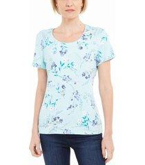 karen scott floral-print t-shirt, created for macy's