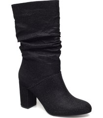 bfanica slouch boot höga stövlar svart bianco