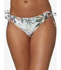 o'neill juniors' mina aloha floral tie bikini bottoms women's swimsuit