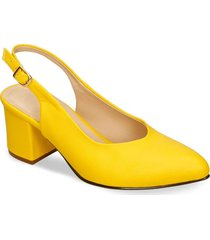 tacones amarillo bata ila mujer