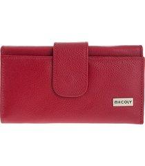 billetera grande 630 cuero rojo
