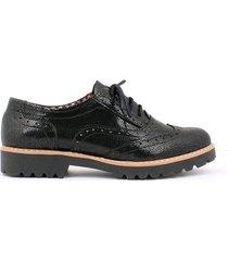 skórzane półbuty zapato 258 czarny łapki