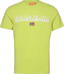 saras solid t-shirts short-sleeved gul napapijri