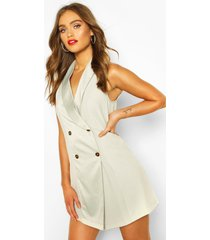 occasion tailored tux dress, sage