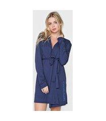 robe calvin klein underwear logo azul-marinho