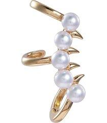 'danger scorpion' akoya pearl 18k yellow gold single ear cuff